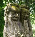 Balinese Hindu statues. Traditional Balinese Hindu statues. Made in Monkey Forest, Ubud, Bali, Indonesia Stock Images