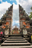 Balinese Hindu Temple - the Stairs, Gate and Temple - Ubud, Bali, Indonesia Royalty Free Stock Photo