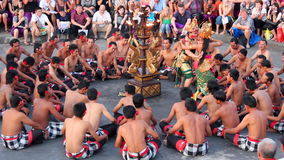 Balinese Kecak dance also known as the Ramayana Monkey Chant stock footage