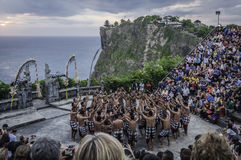 Balinese Kecak dance at Uluwatu temple, Bali Stock Photography
