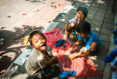 Balinese Kids are Happy Playing. Stock Photos