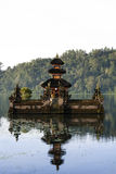 Balinese lake temple bali indonesia Royalty Free Stock Photo