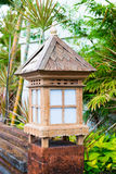 Balinese lanterns in the tropical garden Royalty Free Stock Photo