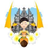 Balinese-Mädchen stock abbildung