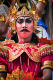 Balinese man parade with traditional dress Royalty Free Stock Image