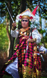 Balinese man parade with traditional dress Royalty Free Stock Photography