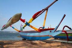 Balinese marlin-like prow canoe Royalty Free Stock Photography