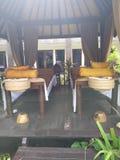 Balinese massage hut stock photos