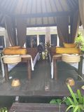 Balinese massagehut stock foto's