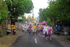 Balinese Melasti Royaltyfri Foto