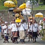 Balinese men in Tampak Siring Temple Stock Image