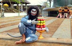 Balinese monkey mask dancer Royalty Free Stock Images