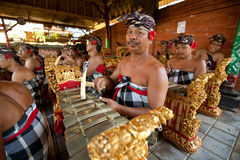 Balinese musicians Royalty Free Stock Photography
