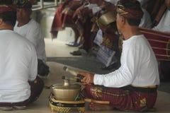 Balinese Musicians in Ulun Danu Beratan Temple Bali Royalty Free Stock Image