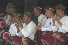 Balinese Musicians in Ulun Danu Beratan Temple Bali Royalty Free Stock Photo