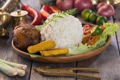 Balinese Nasi campur Royalty Free Stock Photography