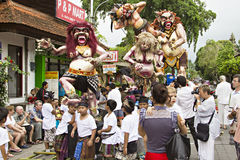 Balinese New Year Royalty Free Stock Photo