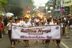 Balinese New Year Stock Image