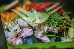 Balinese offerings Royalty Free Stock Image