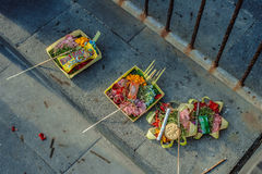 Balinese offerings Royalty Free Stock Photo