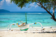 Balinese outrigger Stock Image