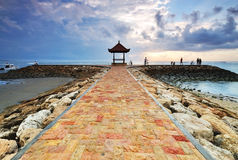 Balinese pagoda in Sanur, Bali Royalty Free Stock Photography