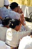 Balinese people praying Stock Image