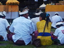 Balinese People Praying on the Mountain Royalty Free Stock Photography