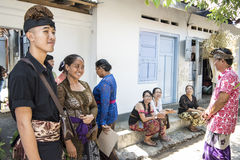 Balinese people in private House Stock Images