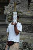 Balinese Prayer in Ulun Danu Beratan Temple Bali Royalty Free Stock Photography