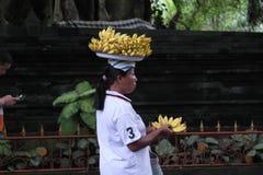 Balinese Prayer in Ulun Danu Temple Royalty Free Stock Images