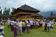 Balinese Prayers in Ulun Danu Beratan Temple Bali Royalty Free Stock Images