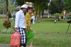 Balinese Prayers in Ulun Danu Beratan Temple Bali Stock Images