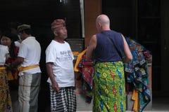 Balinese Prayers in Ulun Danu Temple Bali Royalty Free Stock Photos