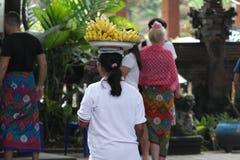 Balinese Prayers in Ulun Danu Temple Royalty Free Stock Image