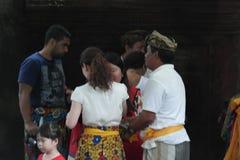 Balinese Prayers in Ulun Danu Temple Royalty Free Stock Photo