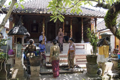 Balinese private funeral ceremony royalty free stock photo