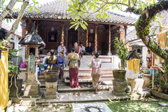 Balinese private funeral ceremony royalty free stock images