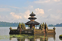 Balinese Pura Ulun Danu temple on lake Bratan. Stock Image