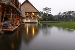 Balinese Restaurant near the ricefields Stock Photography
