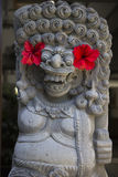 Balinese sculpture of demon. Balinese religious sculpture of demon Stock Photos