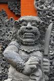 Balinese statue front view Royalty Free Stock Images