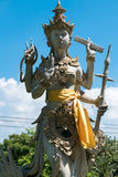 Balinese statue with Hinduism figures in Bali, Indonesia Stock Images