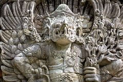 Balinese statue at the temple in Bali Indonesia Stock Image