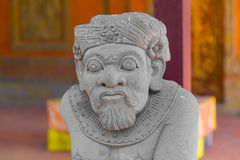 Balinese statue in temple complex, Bali, Indonesia Royalty Free Stock Image
