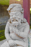 Balinese statue in temple complex, Bali, Indonesia Royalty Free Stock Photography