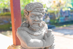 Balinese statue in temple complex, Bali, Indonesia Stock Photos