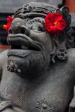 Balinese statue in the temple, Ubud, Bali Stock Photos