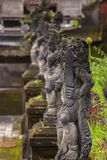 Balinese Stone Statuary at the Hindu Temple. stock image