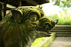 Balinese stone statue Royalty Free Stock Photo